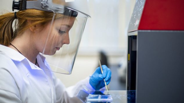 A women in a research lab